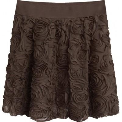 Krátka dámska sukňa hnedá (2229)