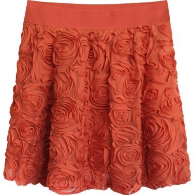 Krátka dámska sukňa červená  (2229)