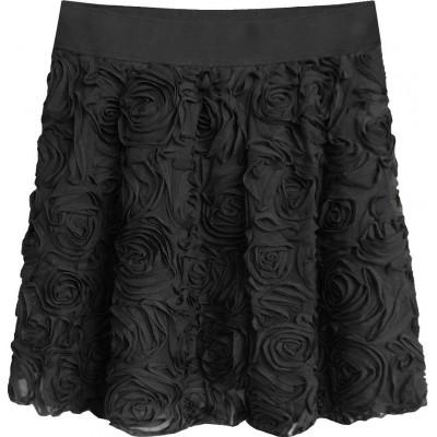 Krátka dámska sukňa čierna (2229)
