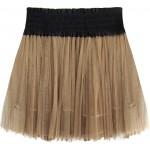 Dámska plisovaná sukňa karamelová  (311ART)