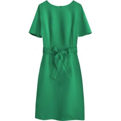 Dámske šaty s opaskom zelené (313ART)