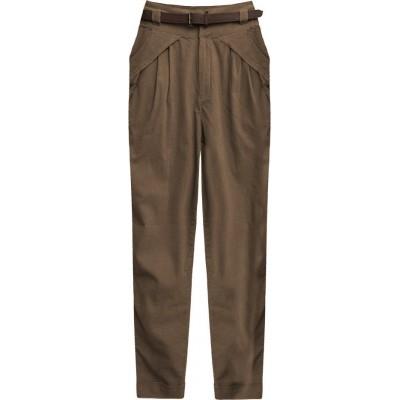 Dámske elegantné nohavice svetlohnedé (2218)