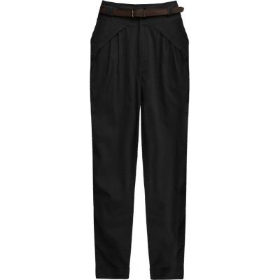 Dámske elegantné nohavice čierne (2218)