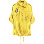 Bavlnená dámska košeľa žltá (1010)