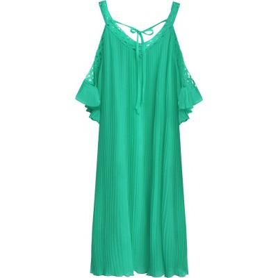 Dámske plisované šaty mätové (342ART)