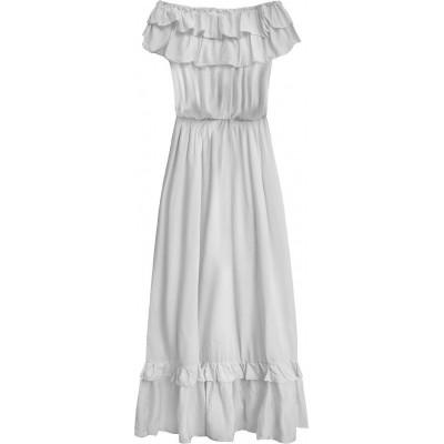 Dámske dlhé šaty šedá (344ART)