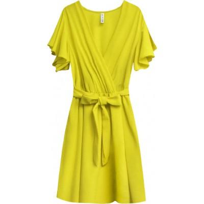 Dámske letné šaty žlté (346ART)