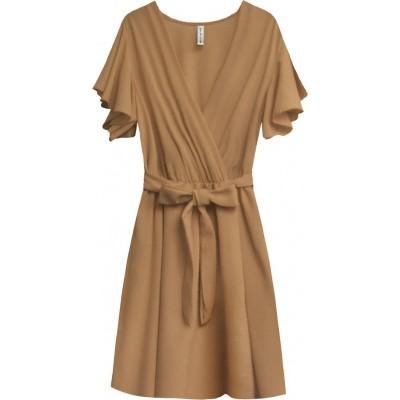 Dámske letné šaty hnedé (346ART)