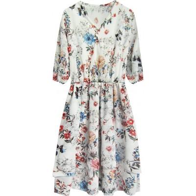 Dámske šifónové šaty biele (352ART)