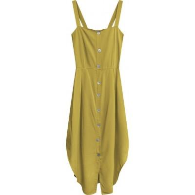 Dámske šaty horčicové (394ART)