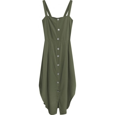 Dámske šaty khaki (394ART)