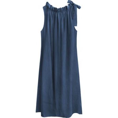 Dámske šaty oversize tmavomodre (392ART)