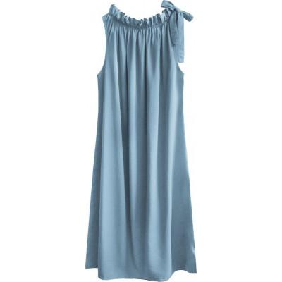 Dámske šaty oversize svetlomodre (392ART)