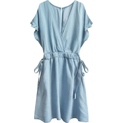 Dámske šaty mini svetlomodre (389ART)