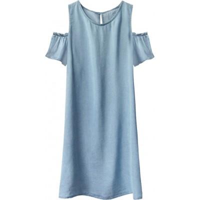 Dámske jeansové šaty svetlomodré  (401ART)