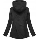 Dámska prechodná obojstranná bunda čierno-tmavomodrá  (7699)