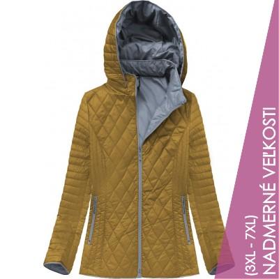 Dámska prechodná bunda horčicová (B9508)