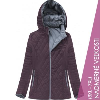 Dámska prechodná bunda tmavofialová (B9508)