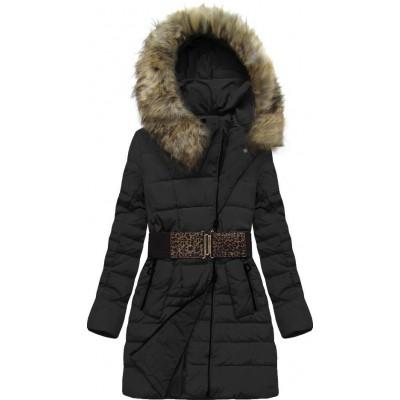 Dámska zimná bunda čierna (X1213X)
