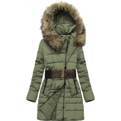 Dámska zimná bunda khaki  (X1213X)