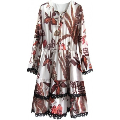 Dámske šifonové šaty ecru (452ART