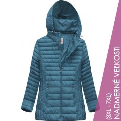 Prešívaná dámska prechodná bunda modrá (XW262BIGX)