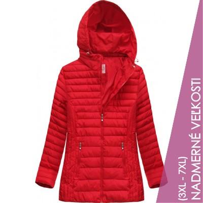 Prešívaná dámska prechodná bunda červená (XW262BIGX)