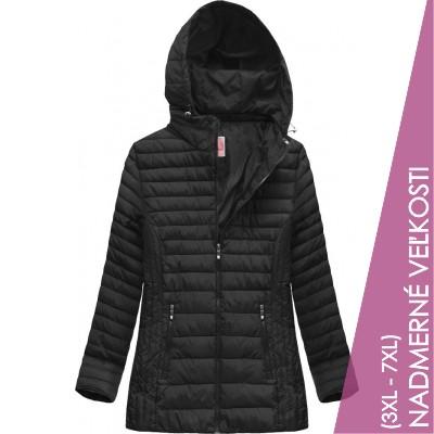 Prešívaná dámska prechodná bunda čierna (XW262BIGX)