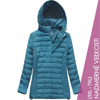 Prešívaná dámska prechodná bunda modrá (W260BIG)