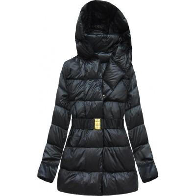 Prešívaná dámska bunda čierna  (YZ11045)
