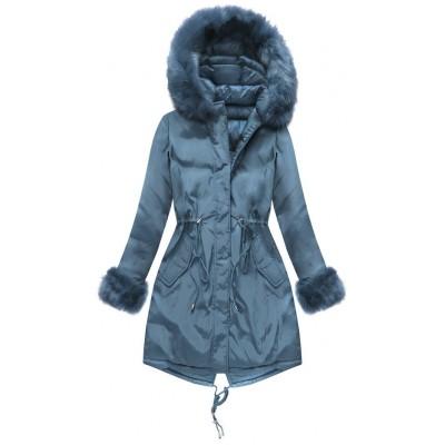 Dámska obojstranná zimná bunda tmavomodrá (PM7210-30)