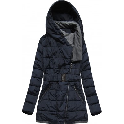 Dámska zimná bunda modrá  (YB929)