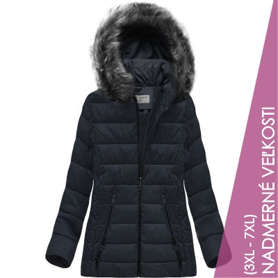 Prešívaná dámska zimná bunda modrá (R9505)