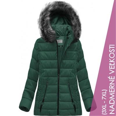 Prešívaná dámska zimná bunda zelená  (R9505)