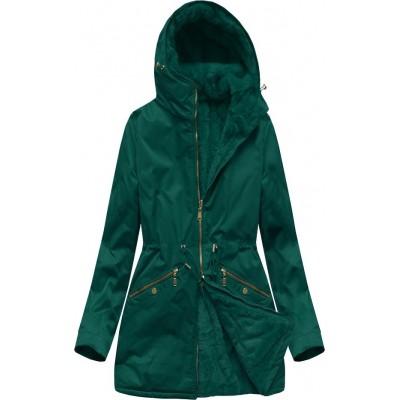 Obojstranná dámska zimná bunda parka zelená (B2634)