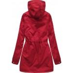 Obojstranná dámska zimná bunda parka červená (B2634)
