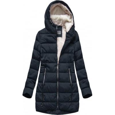 Prešívaná dámska zimná bunda modrá B2642)