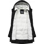 Prešívaná dámska zimná bunda čierna B2642)