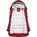 Prešívaná dámska zimná bunda červená B2642)