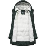 Prešívaná dámska zimná bunda zelená B2642)