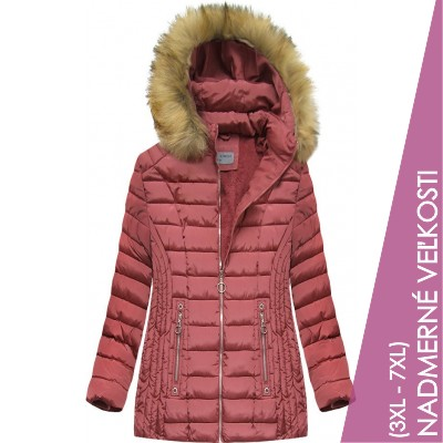 Dámska zimná bunda ružová  (B2630-30)