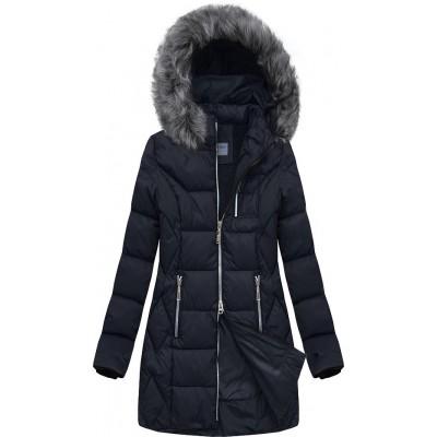 Dámska prešívaná zimná bunda modrá (B2644)