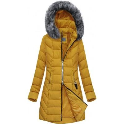 Dámska bunda zimná  žltá (B2645)