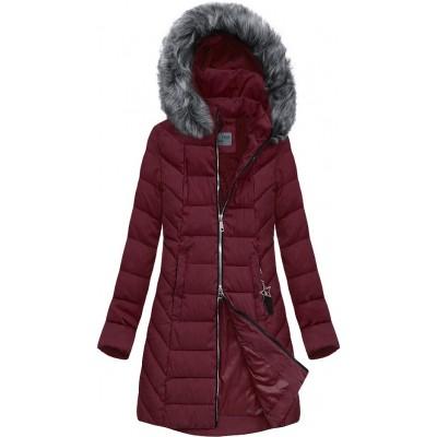 Dámska bunda zimná  bordová (B2645)