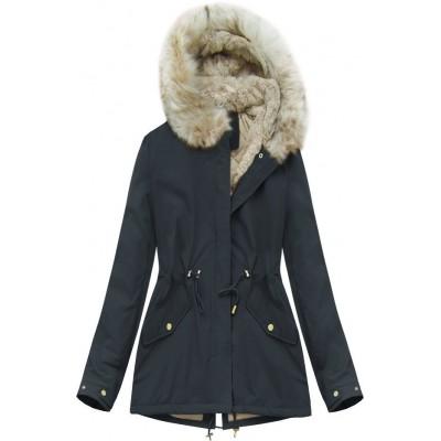 Dámska zimná bunda modrá (B2648)