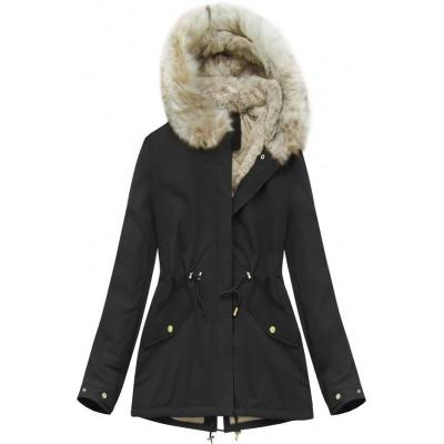 Dámska zimná bunda čierna (B2648)