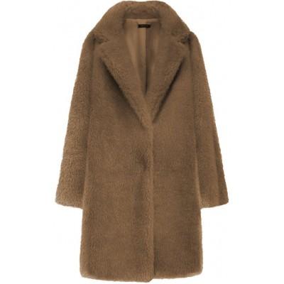 Dámsky kožušinový kabát čierny  (461ART)