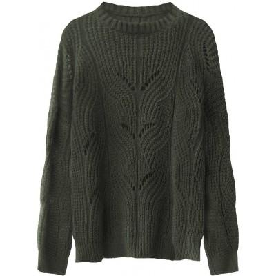 Dámsky sveter khaki (495ART)