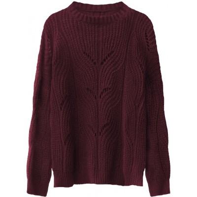 Dámsky sveter bordový (495ART)