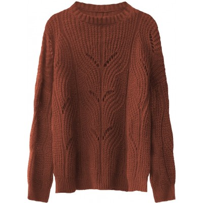 Dámsky sveter tehlový (495ART)